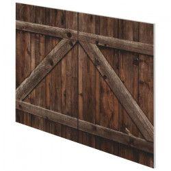PORTE Tete de lit style contemporain effet porte bois vieilli - L 160 cm