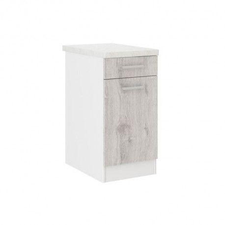 ultra meuble bas de cuisine 40 cm d cor chene clair. Black Bedroom Furniture Sets. Home Design Ideas