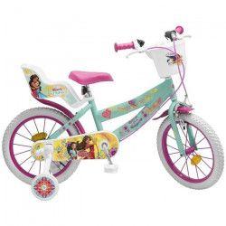 Vélo 16` Elena d`Avalor - Fille - Rose / Vert d`Eau