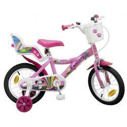 Vélo 14` Fantaisy Ourson - Fille - Rose