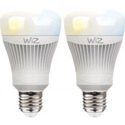 WIZ SMART Lot de 2 Ampoules LED connectées E27 11,5W équivalent a 60 W blanc chaud a blanc froid