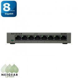 NETGEAR Switch GS308-100PES - 8 Ports Gigabit - 10/100/1000 - Boitier Métal