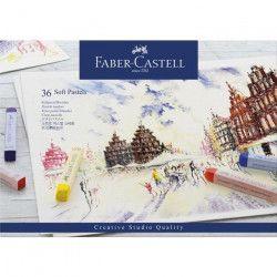FABER-CASTELL Boîte 36 Pastels Carrés Tendres