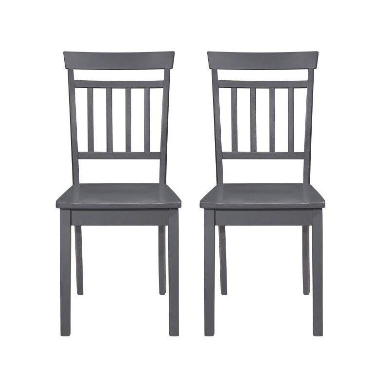 Missouri lot de 2 chaises de salle a manger en bois brun noir for Chaise de salle a manger brun
