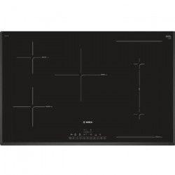 BOSCH PVW851FB1E Table cuisson induction - 5 zones - 7400 W - L 80 x P 51 cm - Revetement verre - Noir