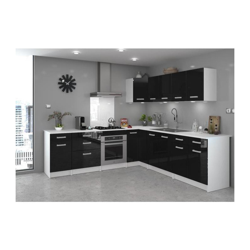 start meuble de cuisine bas d angle avec plan de. Black Bedroom Furniture Sets. Home Design Ideas