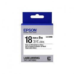 EPSON bande d`étiquettesLK5WBN - Noir et tricolore