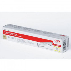 OKI Cartouche toner 43459329 - Compatible C3300/C3400/C3450/C3600 - Jaune - Capacité 2.500 pages
