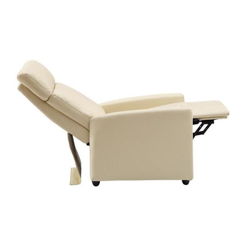 Serenity fauteuil de relaxation en simili ivoire - Chaise de relaxation ...