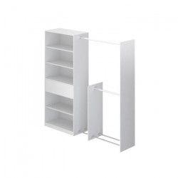 PRACTIC Dressing style contemporain blanc mat - L 210 cm