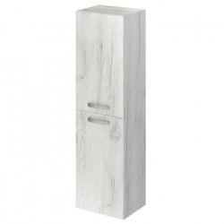 STELLA Colonne de salle de bain L 40 cm - Blanc effet bois