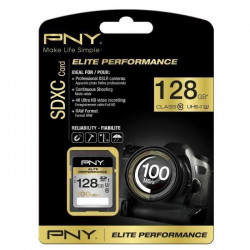 PNY Elite Performance Carte Mémoire SDXC 128 Go Classe 10