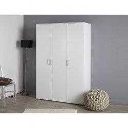 TREND Armoire de chambre 133 cm - Blanc
