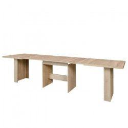 DINING Table a manger extensible de 6 a 12 personnes style contemporain décor chene Sonoma - L 140-273 x l 90 cm