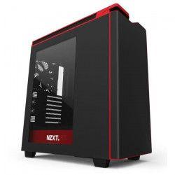 NZXT Boîtier PC H440 - Noir / Rouge - Moyen Tour - Fenetre