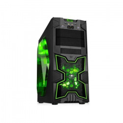 Spirit of Gamer Boîtier PC X-FIGHTERS 41 Green Army Fenetre