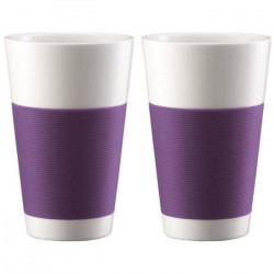 BODUM CANTEEN Set 2 tasses porcelaine double paroi 0,35L violet