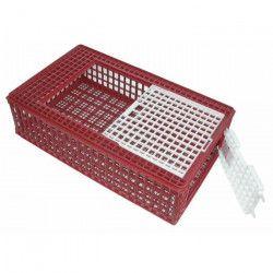 KERBL Cage de transport plastique pour volailles - Porte frontale et coulissante