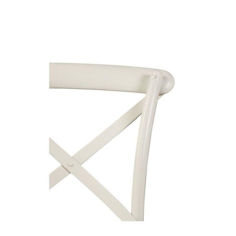 En L Bois X P Romance Chaise Bistrot Classique 54 50 Cm Blanc lKJ1Fc