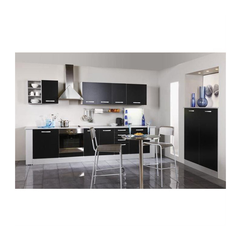 harmony meuble haut de cuisine l 40 cm noir mat. Black Bedroom Furniture Sets. Home Design Ideas