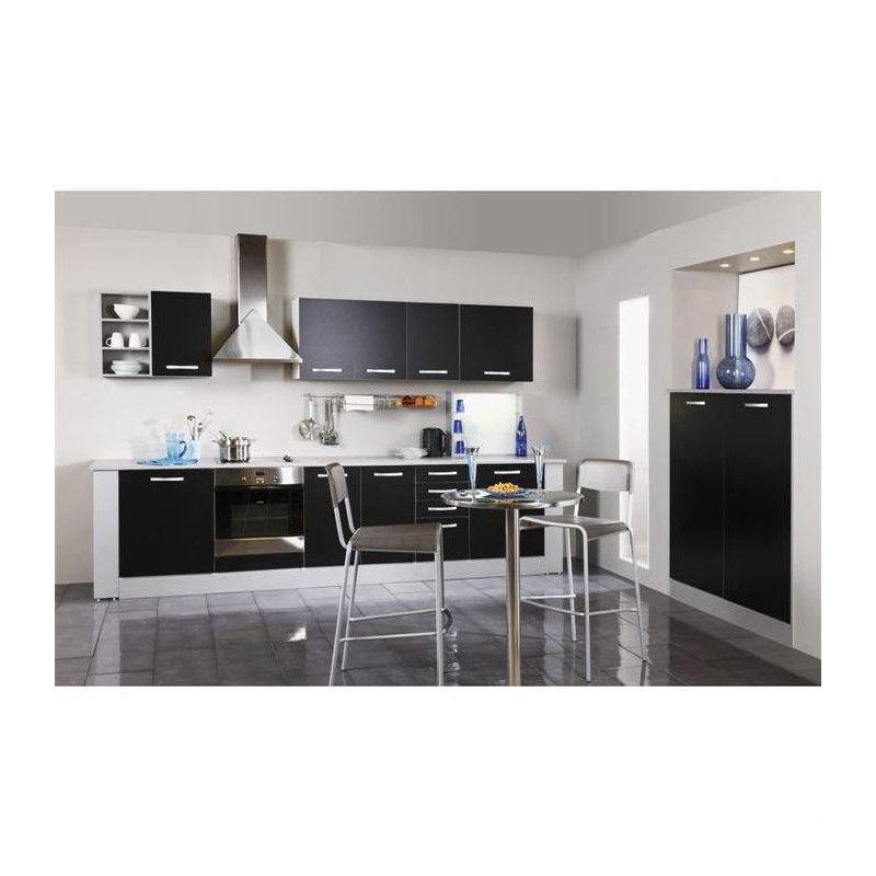 harmony meuble haut de cuisine l 40 cm noir mat. Black Bedroom Furniture Sets. Home Design Ideas