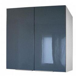 POP Meuble haut de cuisine L 80 cm - Gris brillant