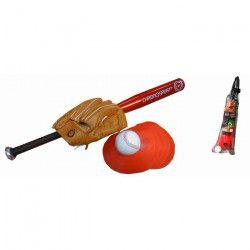 CHRONOSPORT Kit Baseball Batte Alu + Gant + Balle + Plots