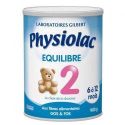 PHYSIOLAC Equilibre Lait en poudre 2eme âge - 900 g - De 6 a 12 mois