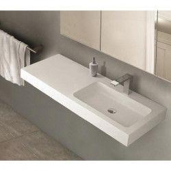MITOLA Plan vasque rectangulaire 1 bac droit Ibiza 120x46cm