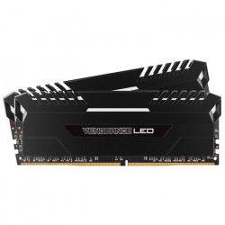 CORSAIR Mémoire PC DDR4 - Vengeance LED 16 Go (2 x 8 Go) - 3200 MHz - CAS 16 - LED Blanches (CMU16GX4M2C3200C16)