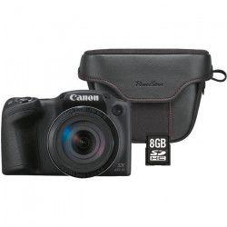 Canon Pack Powershot SX431 + sacoche + carte 8Go - Bridge zoom 45x - Résolution 20,5 Mpixel
