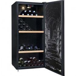 CLIMADIFF CLPP150 Cave a vin polyvalente ou de vieillissement - 150 bouteilles - Pose libre - A - L63 x H 138,5 cm