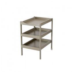COMBELLE Table a langer Susie 3 Plateaux laque gris clair