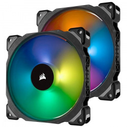 CORSAIR Ventilateur ML140 PRO RGB - Twin Fan Pack - avec Lighting Node PRO (CO-9050078-WW)