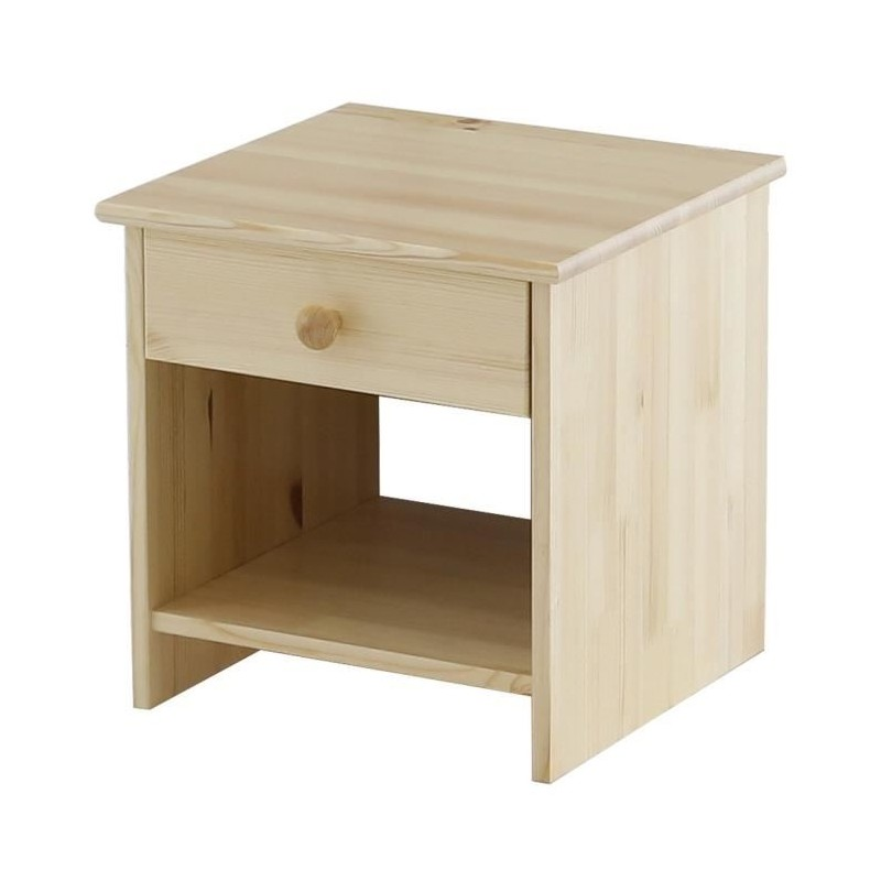 mola chevet 38 cm en pin massif bois naturel. Black Bedroom Furniture Sets. Home Design Ideas