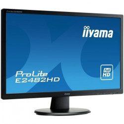 IIYAMA Ecran E2482HD-B1 24` - 1920x1080 - 5ms - 250cd/m² - DisplayPort/DVI/VGA/USB-HUB 2x2.0