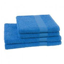 JULES CLARYSSE Lot de 2 serviettes + 2 draps de bain Viva - Bleu