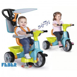 FEBER - Tricycle Trike Baby Plus Music 360 - Vert et Orange