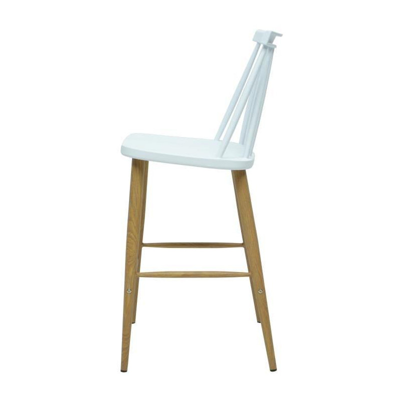 finlandek lot de 2 tabourets de bar katty blanc. Black Bedroom Furniture Sets. Home Design Ideas