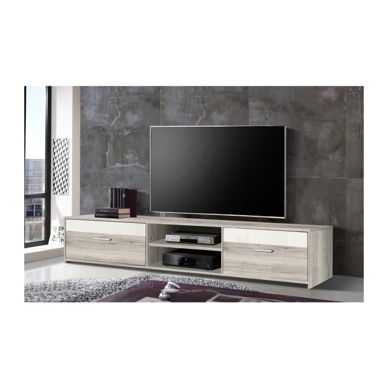 finlandek meuble tv katso contemporain d cor chene. Black Bedroom Furniture Sets. Home Design Ideas