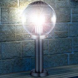 GLOBO LIGHTING Borne extérieure inox - Verre translucide