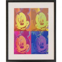 MICKEY ET SES AMIS Image encadrée Pop 44x54 cm jaune