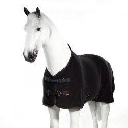 HORZE Couverture polaire pour chevaux Avalanche - Taille 135 - Noir