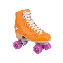 Hudora - Patin a roulettes Disco - taille 35 - Orange/Violet