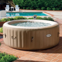 INTEX PURE SPA Spa a bulles rond 4 places gonflable 1,91 x 0,71 m