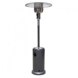 JARDIN PRATIC Parasol chauffant au propane - Rayonnement : 3,6m - H 2,3m - Argent