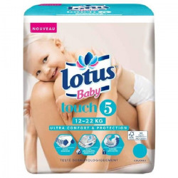 LOTUS BABY Touch Couches Taille 5 - De 12 a 22 kg - 36 couches