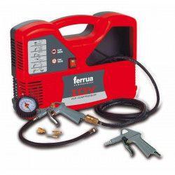 FERRUA Compresseur d`air sans huile Idy 1.5 HP 1100 W avec accessoires