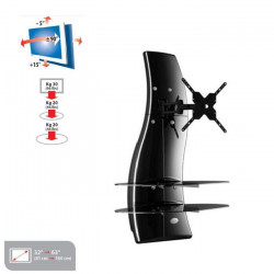 MELICONI GHOST DESIGN 2000 ROTATION Meuble TV support Noir - Pour TV 32` a 63` - Orientable et Inclinable