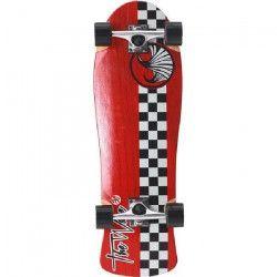 WAVE Longboard 30` Checker Complete K0000 - Rouge